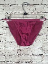 Victoria's Secret Vtg Second Skin String Bikini Panty XS/S Hot Pink NWOT Defect