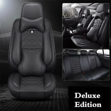 Car Front &Rear Seat Cover Luxury PU Leather Universal Seat Cushion Protector