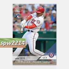 2018 Topps Now Juan Soto #235 - 19 Year Old Hits HR in First Career Start