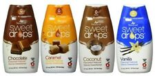 SweetLeaf Sweet Drops Flavored Stevia Sweetener 4 Flavor Variety Bundle, 1 Ea: C