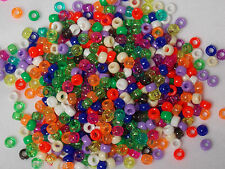 Mini Pony Beads x 250  6mm x 4mm