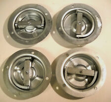 4 - Recessed Full 360 Swivel 6000# Rated Rope D Ring Tie Down Trailer Truck Car