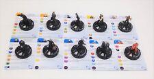 Heroclix The Dark Knight Rises set COMPLETE 10-figure Mass Market lot w/cards!