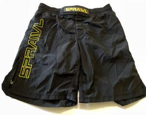 Sprawl Men's Boxing MMA Black Shorts Size 32