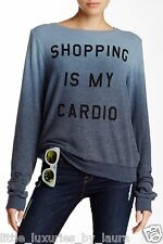 NWT WILDFOX COUTURE Shopping Is My Cardio Ombre BBJ Sweater Sweatshirt Medium M