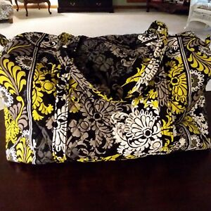 New Vera Bradley Large Travel Duffle Bag Baroque 23x11x9 zip Gym Mother's Day