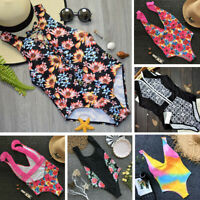 Womens Girls One-Piece Swimsuit Beachwear Swimwear Monokini Bikini Bathing Suit
