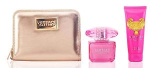 Versace Bright Crytal Absolu Eau De parfum Spray 90ml & BL 100ml & Pochette Set