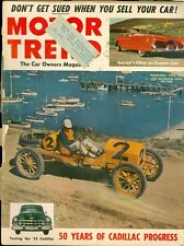1952 Motor Trend Magazine: 50 Years of Cadillac Progress/Sued When Selling Cars