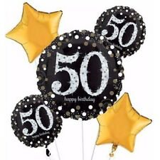 Sparkling Celebration 50th Birthday Balloon Bouquet Party Supplies Fiftieth 50