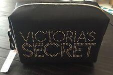 Victoria's Secret Black Supermodel Bling Makeup Bag Cosmetic Lrg Nwt