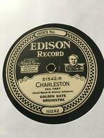 EDISON DIAMOND DISC HOLY GRAIL - CHARLESTON - GOLDEN GATE ORCHESTRA - NEAR MINT