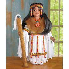 "Native American Indian 16""  Porcelain Doll Traditional Native Attire Dolls"