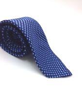 $95 CLUB ROOM Men WHITE NAVY BLUE DRESS CHECK NECK TIE CASUAL NECKTIE 59x3.25