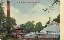 Normal Illinois~ISNU Green Houses~Smokestack~1913 Postcard