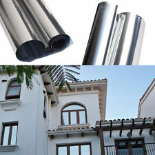 1Roll 50cmx2M Mirror Solar Reflective Window Film ONE WAY Privacy Tint Silver20%