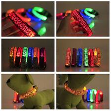 Halsband LED Light Verstellbare Leuchtend Leuchthalsband Leopard Hundehalsband