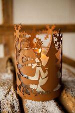 Windlicht Weihnachtsmann Weihnachten Advent Dekoration Nikolaus Glas Kerze Licht