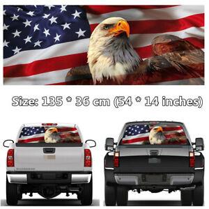 American Flag Eagle Rear Window Windshield Graphic Decal Sticker Car SUV Pickup