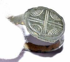 Precioso Anillo Romano con Cruz Regalo históricas motivo en bisel - - OP92