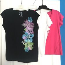 LOT OF 3 ROXY T shirts tops size Small S CONDITION EXCELLENT PRETTY EXCELLENT
