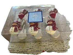 Snow men shower curtain hooks 12 in pack unopened.