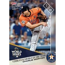 2017 TOPPS NOW #860 CHARLIE MORTON 4 STRONG IP AND 4 KS EARN WIN TO SEAL GAME 7