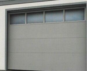 Garagentor Sektionaltor mit Fenstersektion in 4 Farben und Antrieb