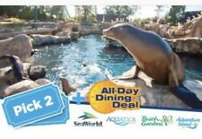 SEAWORLD ORLANDO Two Park Ticket $126 W/ FREE ALL DAY DINING Both Days PROMO