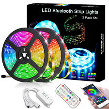 10M Bluetooth Music 5050 RGB LED Strip Light Waterproof SmartPhone APP Control