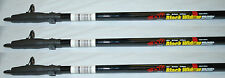 BnM 10' Black Widow W/Guides & Reel Seat Trolling Crappie Pole St-3 Set of 3 B&M