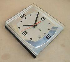 Pendule JAZ DIAPASON GECIC vintage ALU & plastique ancien horloge MARCHE clock