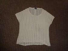TOPSHOP-ladies t-shirt blouse top size 14 CHRISTMAS PARTY FORMAL SMART WORK LACE