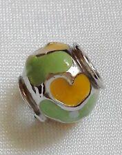 Abalorio/charm/bead esmaltado CORAZON para pulsera europea (UN ABALORIO)