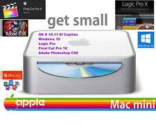 "Apple Mac Mini ""PLUS"", 2.0ghz OS 10.12 SIERRA w/ Windows 10 Office 16 Adobe CS6"