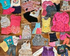 Girls clothing Lot XS, 4/5, 5T Carters,Cat And Jack, Disney + 33 PCs Summer/Fall