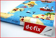 DC Fix Kids Boys Pattern 1m X 45cm Self Adhesive Vinyl Blue Pirates 200-3233