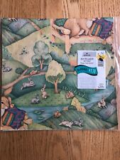 Vintage Hallmark Easter Bunnies Gift Wrap Wrapping Paper 2 Sheets New Sealed