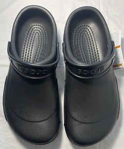 New Women's CROCS Bistro Black Shoes Clogs Size 10 FREE SHIPPING