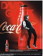 Publicité Advertising 2012 Coca Cola signée david Guetta