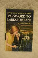 Nancy Drew Password to Larkspur Lane Hardcover Book 1966