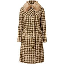 ORLA KIELY Houndstootth Wool Lowrie Coat Jacket Olive Uk 12 | Bag Dress Shirt