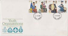 No se han abordado GB FDC 1982 organizaciones juveniles sello conjunto Truro PMK Pegatina eliminado