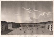 PARIS. Place Vendôme en 1789. Aquatint 1808 old antique vintage print picture