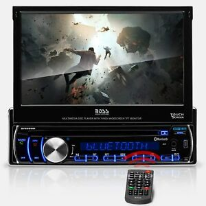 "BOSS AUDIO BV9986BI 7"" TOUCHSCREEN SINGLE DIN IN-DASH CAR DVD PLAYER BLUETOOTH"