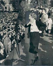 1938 Ellen Wilkinson British Parliament Speaks Save Czechoslovakia Press Photo