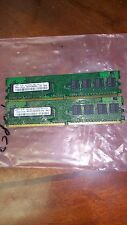 2GB = 2X1GB  DDR2 PC2-5300 667MHZ 128x8 8CHIPS  240PIN NON-ECC LOW DENSITY