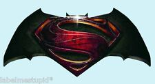 Batman Vs Superman Car Sticker - 20cm   Gloss Vinyl Window Dawn of Justice