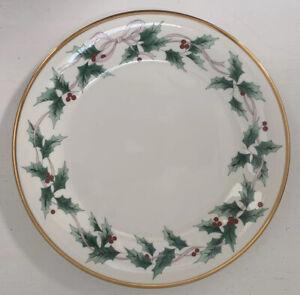 "MIKASA Ribbon Holly Dinner Plate 10 3/4"" NWOT, NEW!"