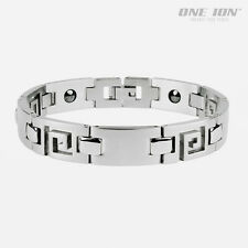 POWER AUTHENTIC MAGNETIC Maze Shine TITANIUM Sport Balance Bracelet Wristband